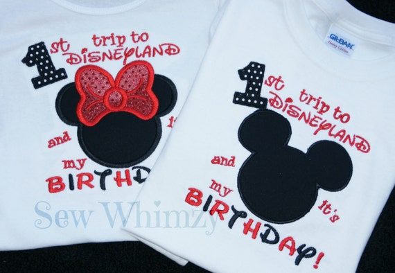 Birthday Mouse Trip Shirt Vacation Family First
