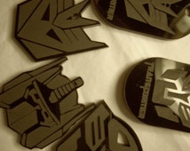 Tranformer charms Optimus Prime necklace charm transformers laser cut acrylic charms cupcake toppers optimus prime