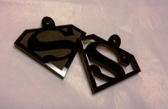 superman charms superman cell charms laser cut charms