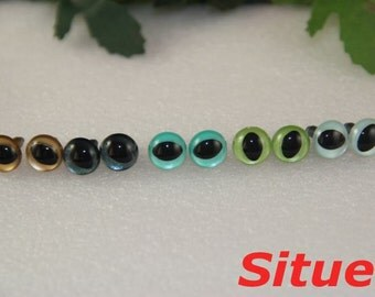 5 pairs 10.5mm Fantasy  color CAT safety  eyes for needle felted animal-1 pair for each color