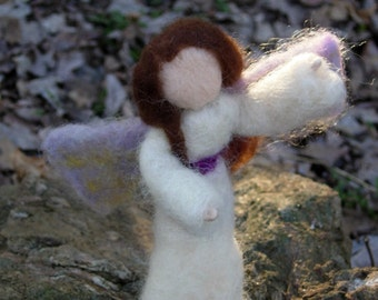 Needle Felted Angel- Waldorf Nativity Angel- Needle Felted Doll - For Play or Decoration- Child Friendly