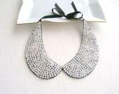 Handmade silver collar necklace