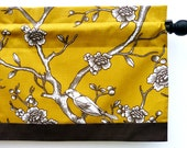Citrine Kitchen Valance with Vintage Blossom Design Fabric by Robert Allen Fabric (curtain rod not included)