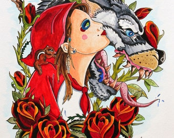 Red and the Wolf-print