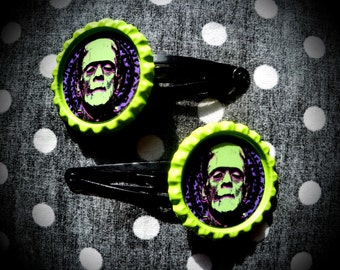 Psycho Frankie hair clips