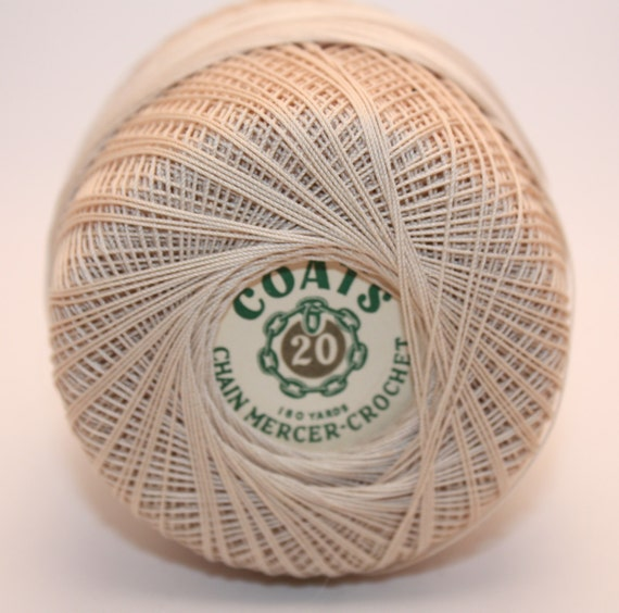 Coats Chain Mercer Crochet Thread Size 20 180 Yard Balls Ecru