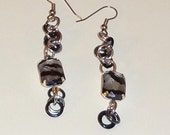 Zebra Print Dangle Chainmaille Earrings