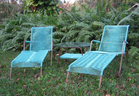 Amazing Brady Bunch Era Lawn Furniture Brilliant Turquoise