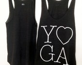 Black and White Yoga Tank Top