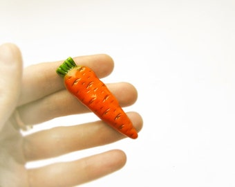 Sale Carrots Brooch handmade, funny bright jewelry, orange colour, for children and adults, vegetarian jewelry, christmas in july sale