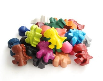 Dinosaur crayons - Handmade Crayons - Dinosaur Crayon Tub - Set of 24 - Dinosaur Party - Childrens Party Gift - Colouring Activity