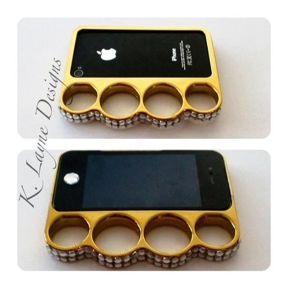 Custom Cell Phone Case- Brass Knuckles