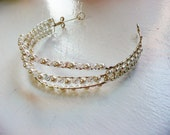 Triple Band Crystal and Pearly Tiara/Headband
