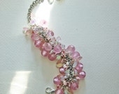 Frosted-Pink-Beaded-Bracelet