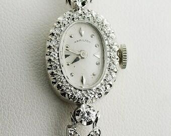 Vintage Ladies Hamilton Diamond Watch