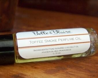 Toffee Smoke Perfume Oil- Tobacco, Honey, Musk, Mandarin, Amber, Rose, Caramel- Roll On Perfume
