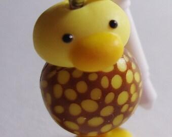 Kawaii Chicken Earphone plug. Handmade