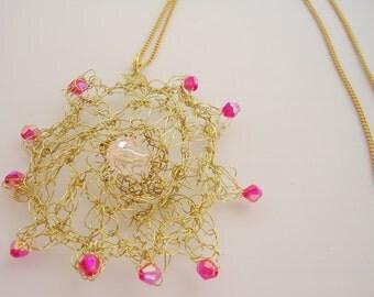 Soft Wire Handmade Necklace.Tokyo Fashion