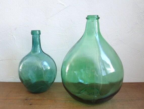 vintage large demi john dame jeanne green glass wine. Black Bedroom Furniture Sets. Home Design Ideas