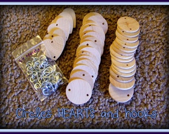 UNPAINTED Circles hearts and hooks for Birthday Boards