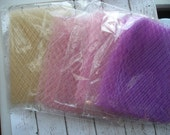 Russian Veil Netting Various Colors. Huge Lot. Includes everything pictured in all Pictures