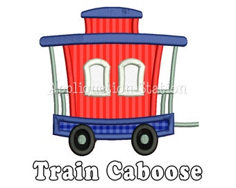 Train Caboose Applique Machine Embroidery Design boy INSTANT DOWNLOAD
