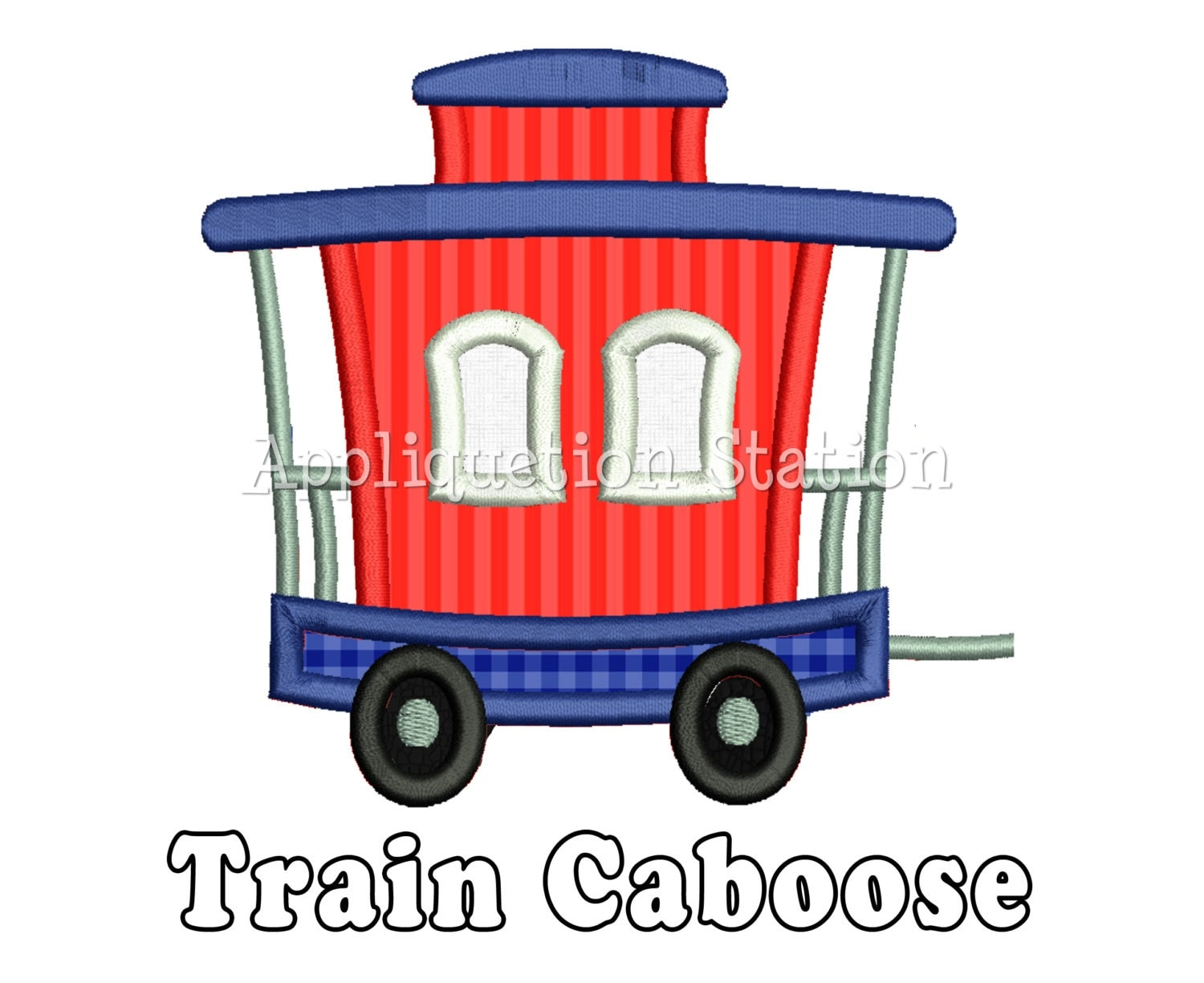 Thomas The Train Tracks Clip Art Train caboose applique machine
