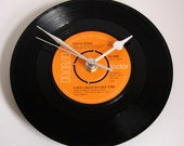 """David Bowie Vinyl Record CLOCK. """" A New Career In A New Town"""", New Job, Housewarming Gift, guys, girls, co-worker"""