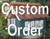 Reserved for Sheri Custom Order Victorian Mailbox