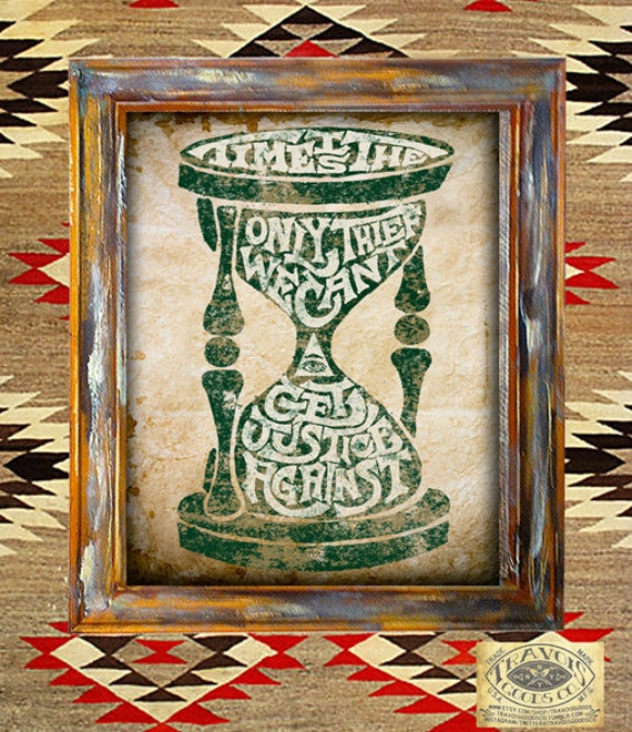 Items Similar To Time Hourglass Rustic Americana Vintage