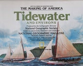 Vintage Historical Map National Geographic Tidewater And Environs June 1988