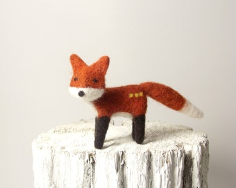 Mr. Foxy Cute Needle Felted Fox Soft Sculpture Animal Lover Gift