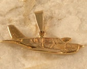 Sterling Silver Piper Airplane Pendant