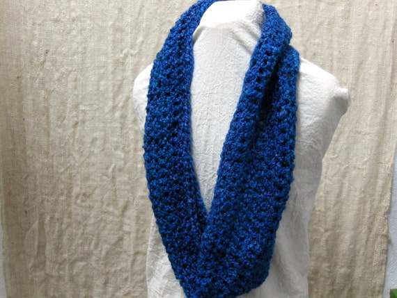 RESERVED for Amanda Crochet Cowl Infinity Scarf Blue SALE was 22 dollars!