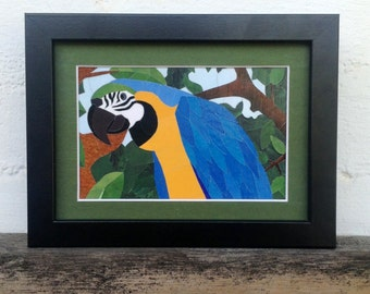 Macaw - Original Paper Mosaic Art Created From Disneyland Maps