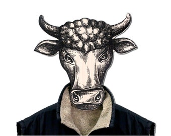 Unique hook - hanger - mask - Bull -  a decorative article for your creative home or office
