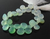 Chrysoprase Pear Briolettes, Faceted, 9x9 mm, Set of 34