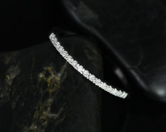 14kt White Gold Matching Band to Pasley/ Morgan/Rosy/Yessi Diamonds HALFWAY Eternity Band (Other Metals and Stone Options Available)