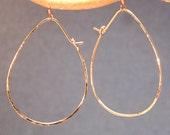Hoop Earrings Large Teardrop