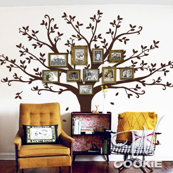 Etsy Family Wall Decor : Wall decal family tree by wcookie on etsy