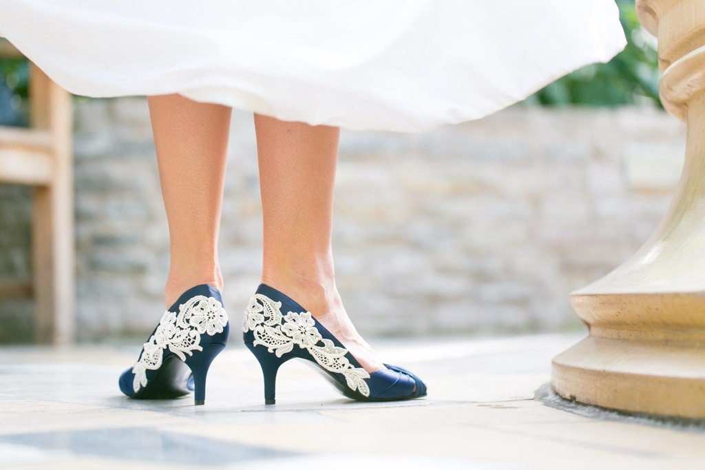 Wedding Shoes Navy Blue Wedding Heels/Bridal Shoes Navy