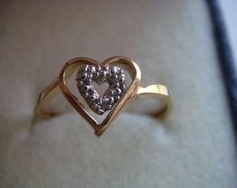 Heart Inside a Heart 10k Gold