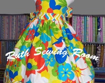 custom listing for LaDonna Justice  Funky & Fun Floral Ruffle Dress for Girls - Bright - Unique - Chevron - Spring - Summer - Birthday -