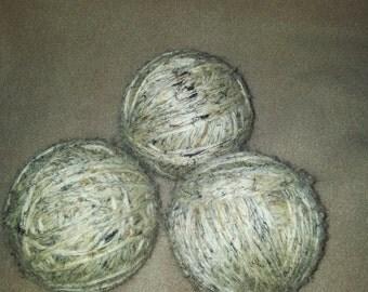 Birch Tweed Set of 3 Wool Dryer Balls Eco Friendly Unscented