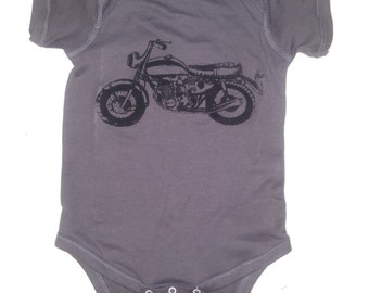 Baby Motorcycle Clothes Infant Bodysuit for Baby Boy or Baby Girl, Baby Shower Gift