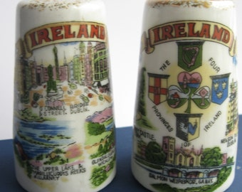 Cute and Quirky Vintage 1950s IRISH SOUVENIR Salt and Pepper Shakers Made in JAPAN