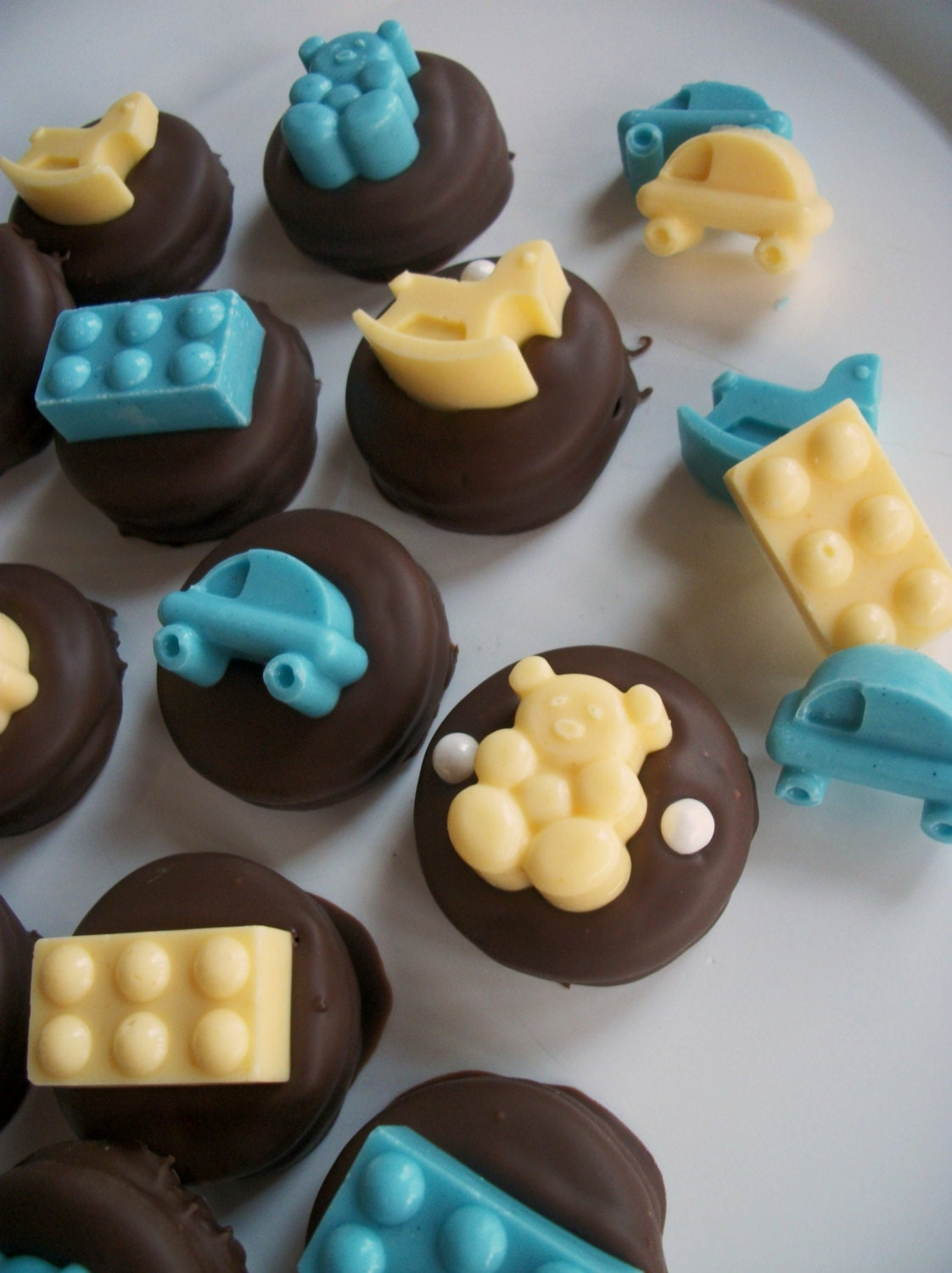 baby shower party favors baby shower chocolate baby toys atop