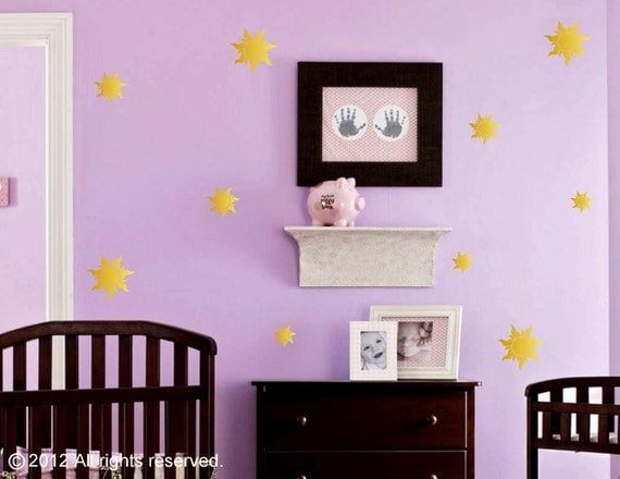 Rapunzel / Tangled Inspired Royal Sun Insignia Wall Decal / Stickers for Girl's Room