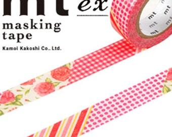 MT Washi Masking Deco Tape Flower Red Design