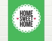 "Original Art Print ""Home Sweet Home"" 8 x 10"